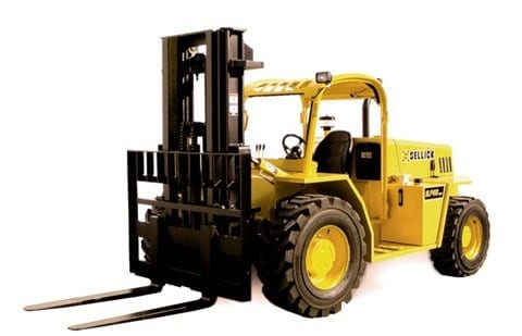 Forklift for rough terrain