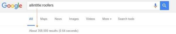 screen shots allintitle: search roofers