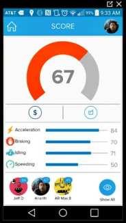 Azuga fleet tracking Smart Phone App