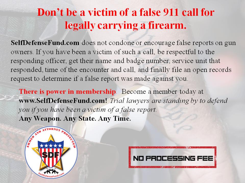 Victim of 911 False Report