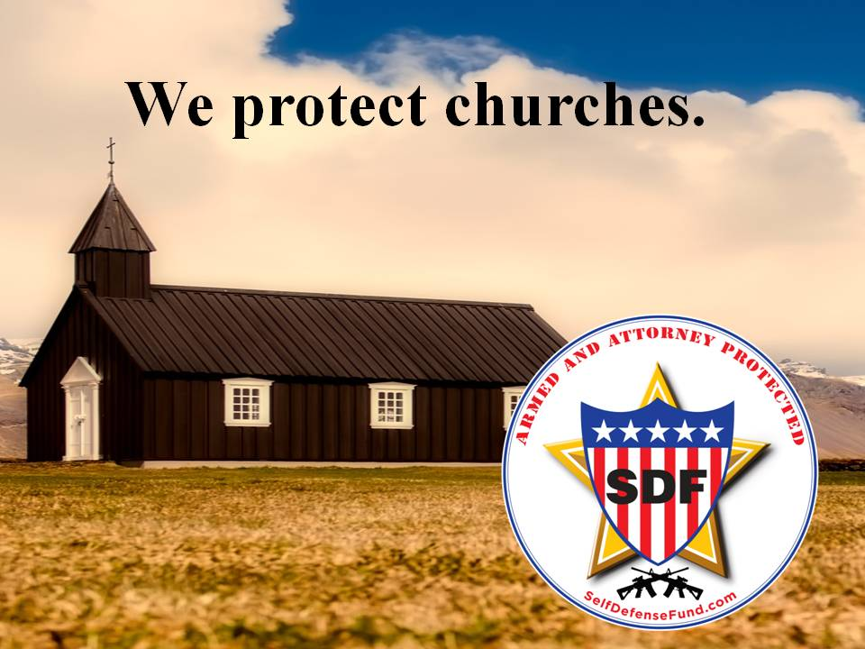 We protect churches with logo