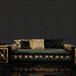 ACR033 - Versace Greek Key Wallpaper - Black
