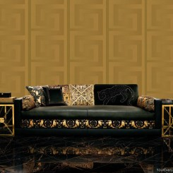 ACR034 - Versace Greek Key Wallpaper - Gold