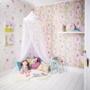 ART023 - Woodland Fairies Glitter Wallpaper
