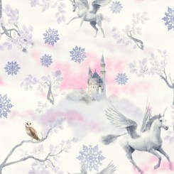 ART031 - Fairytale Unicorn Wallpaper Pink