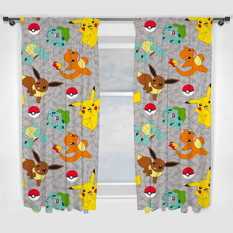 POK006 - Pokémon Catch Curtains - Available In 2 Sizes