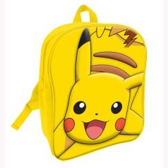 POK010 - Pokemon Pikachu 3D Backpack Yellow