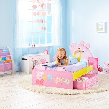 PPP261 - Peppa Pig Toddler Bed with Storage
