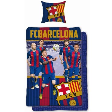 BRC160 - FC Barcelona Messi Header Single Duvet Cover and Pillowcase Set