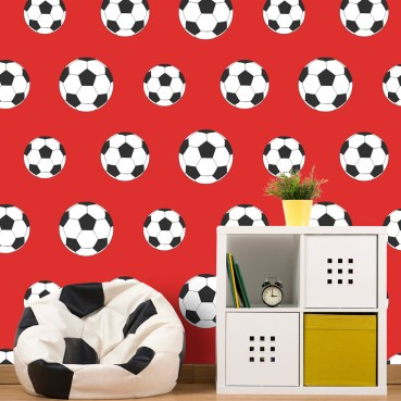 FOT020 - Goal Football Wallpaper - Red 9720 Belgravia Decor