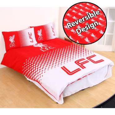 LIV284 - Liverpool FC Fade Double Duvet Cover and Pillowcase Set