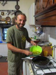 Andrea nam je spremio omlet sa tartufima