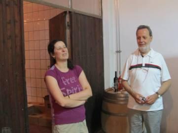 Marija sa Gradimirom Spasojevićem, predsednikom Udruženja Vin Tur u osnivanju