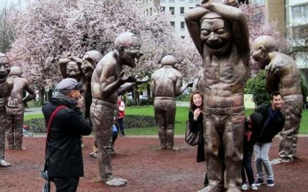 PT A-mazing Laughter public art