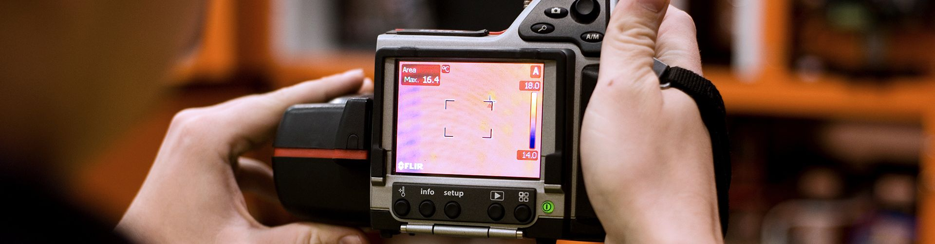 thermographic camera at work