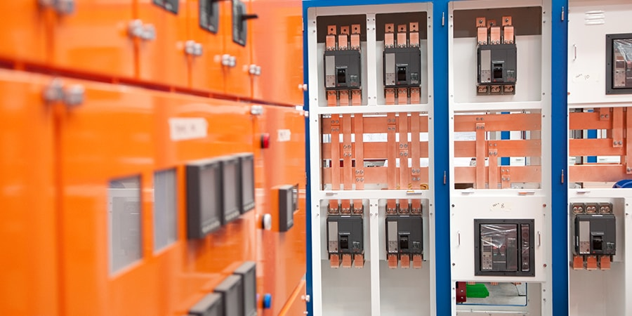 newly installed switchboard upclose
