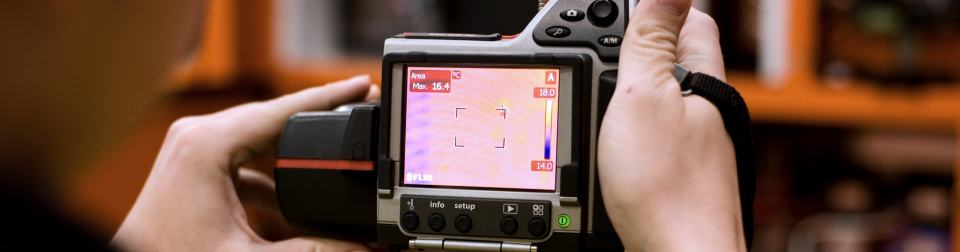 Thermographic Camera being Used