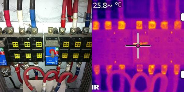normal camera vs thermographic camera 4