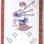 Bagpiper stitched by Cherylrose
