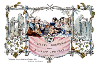 The first commercial Christmas card from 1843