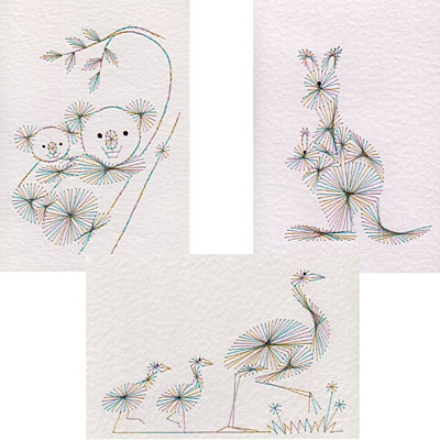 Australian animals stitching patterns