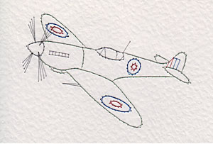 Spitfire aircraft pattern at Stitching Cards