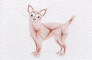 Chihuahua dog pattern at Stitching Cards