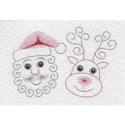 Santa patterns added at Stitching Cards