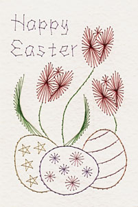 Easter pattern added at Stitching Cards