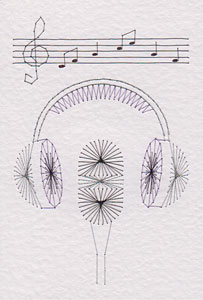 Microphone pattern at Stitching Cards