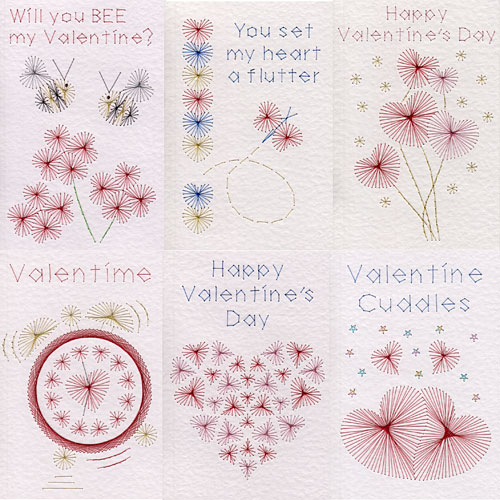 Valentines patterns added at Stitching Cards
