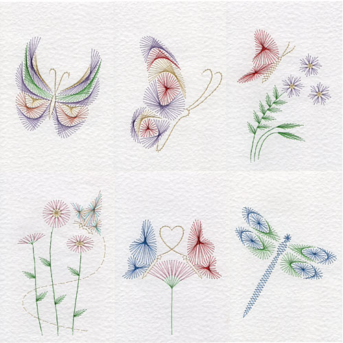 Butterfly patterns at Stitching Cards