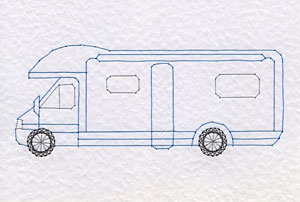 Motorhome pattern at Stitching Cards