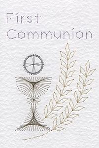 First Communion pattern at Stitching Cards
