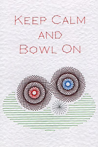 Lawn bowls pattern added at Stitching Cards