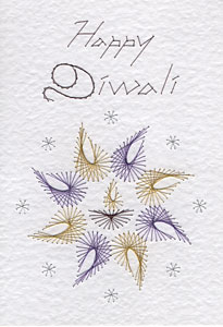 Diwali pattern added at Stitching Cards