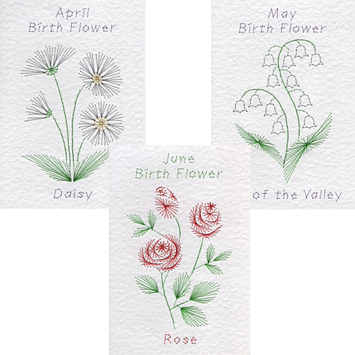 birth flower patterns at Form-A-Lines