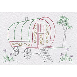 Gypsy caravan patterns added at Stitching Cards