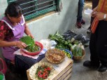 Another tianguis - removing nopales spikes