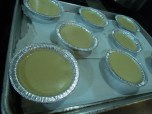 Creme brulee ready for oven