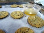 Pecan shortbread cookie base