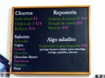 Churreria menu