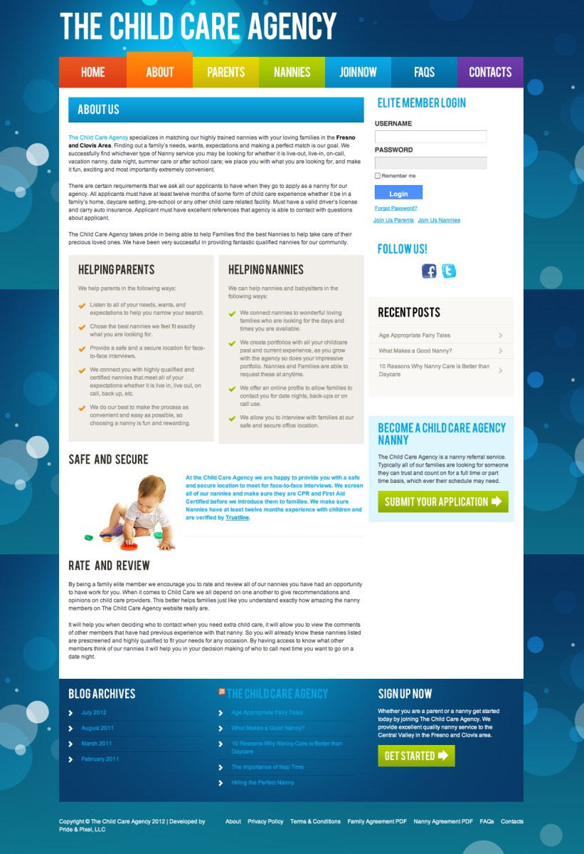 The Child Care Agency About Page