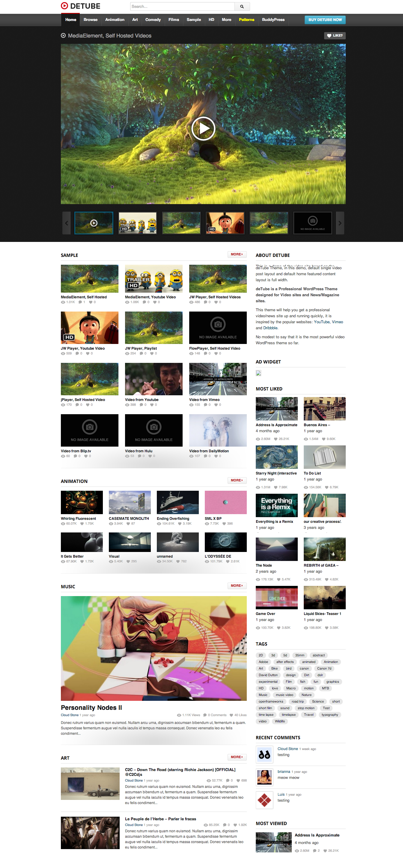 Blazing Borders website theme
