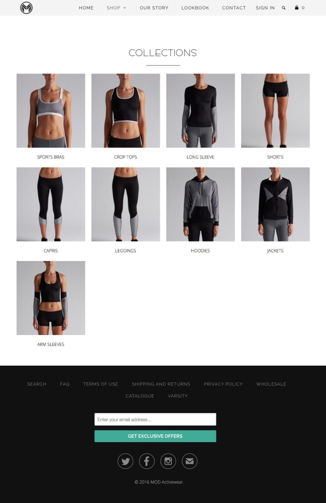 Mod Activewear Collections
