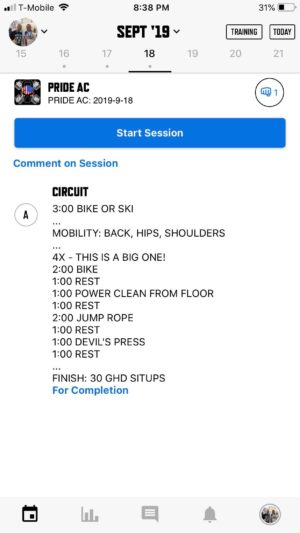 trainheroic mobile app for pride conditioning gym charlotte workout wod