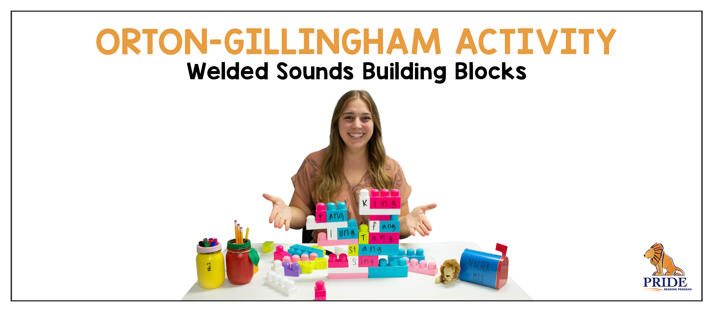 Orton Gillingham Activity Welded Sounds Building Blocks