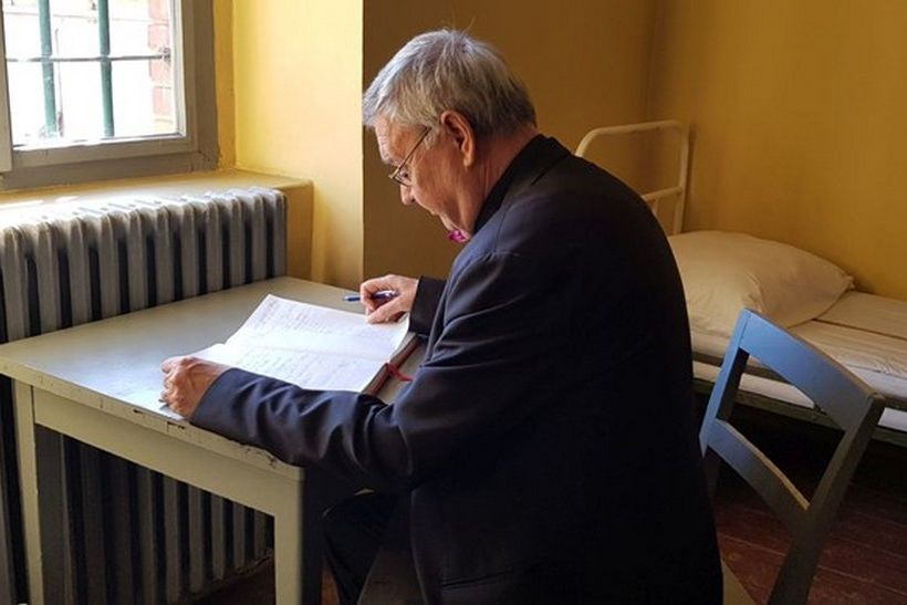 Biskup Mrzljak pohodio spomen ćeliju bl. Alojzija Stepinca u Lepoglavi