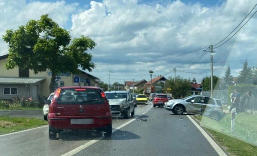 Prometna nesreća kod Križevaca; promet usporen, policija na terenu