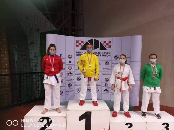 KARATE – Prvenstvo Hrvatske za mlade uzraste Križevčanka Iva Katalenac prvakinja države